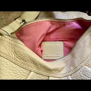Coach Leather Soho Hobo Beigeish Bag Slightly used